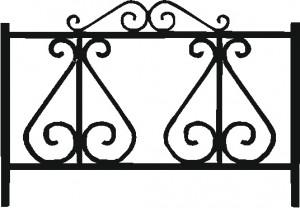 Ограда на кладбище ОГ-02