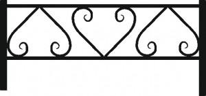 Ограда на кладбище ОГ-06