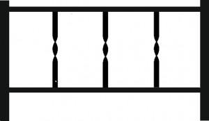 Ограда на кладбище ОГ-Б14