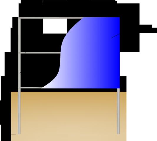 забор из сотового поликарбоната - схема
