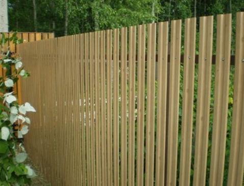 Забор из металлического штакетника Grand Line