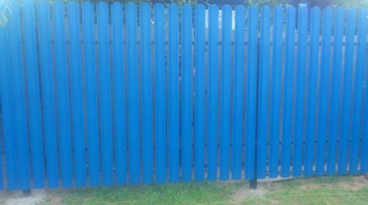 Забор из металлического штакетника Strong в Балахне