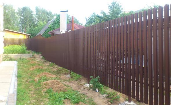 Забор из металического штакетника Unix в Богородске