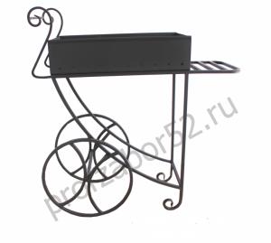 Мангал с декоративными колесами