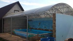 бассейн на даче рядом с баней