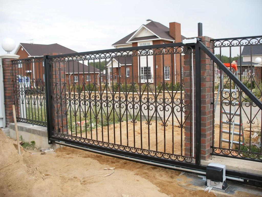Ворота сварные откатные ворота металлические простые