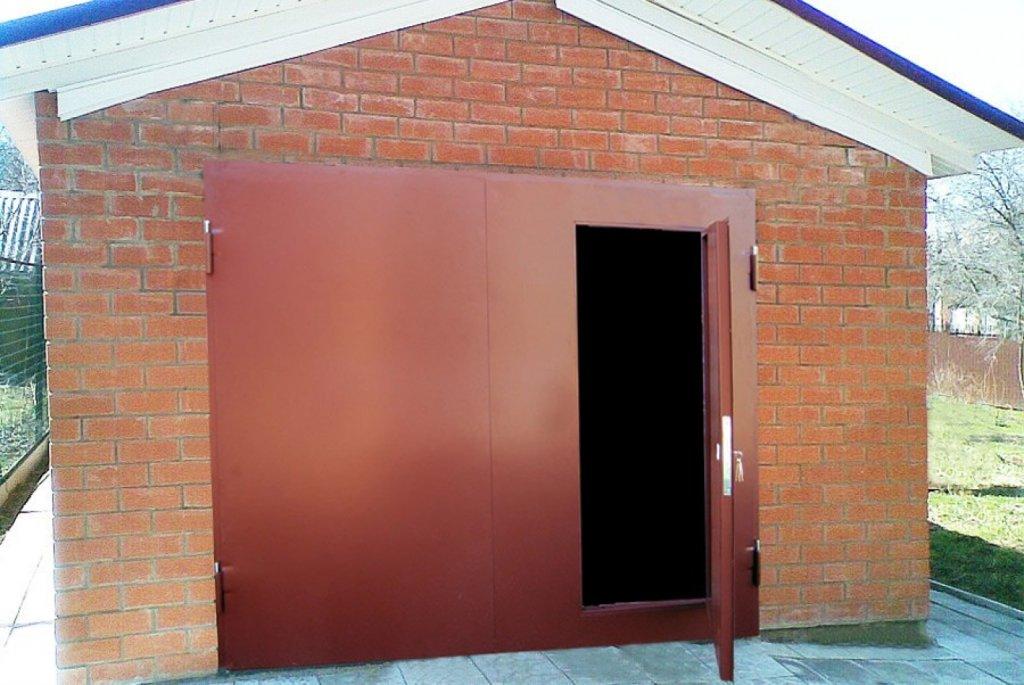 купить ворота для гаража металлические распашные в тюмени